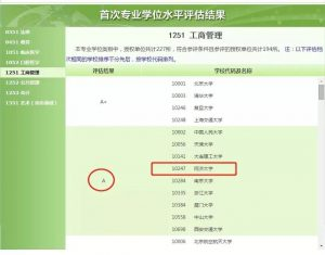 Master of Business Administration of Tongji SEM Rated A in National First Professional Degree Evaluation