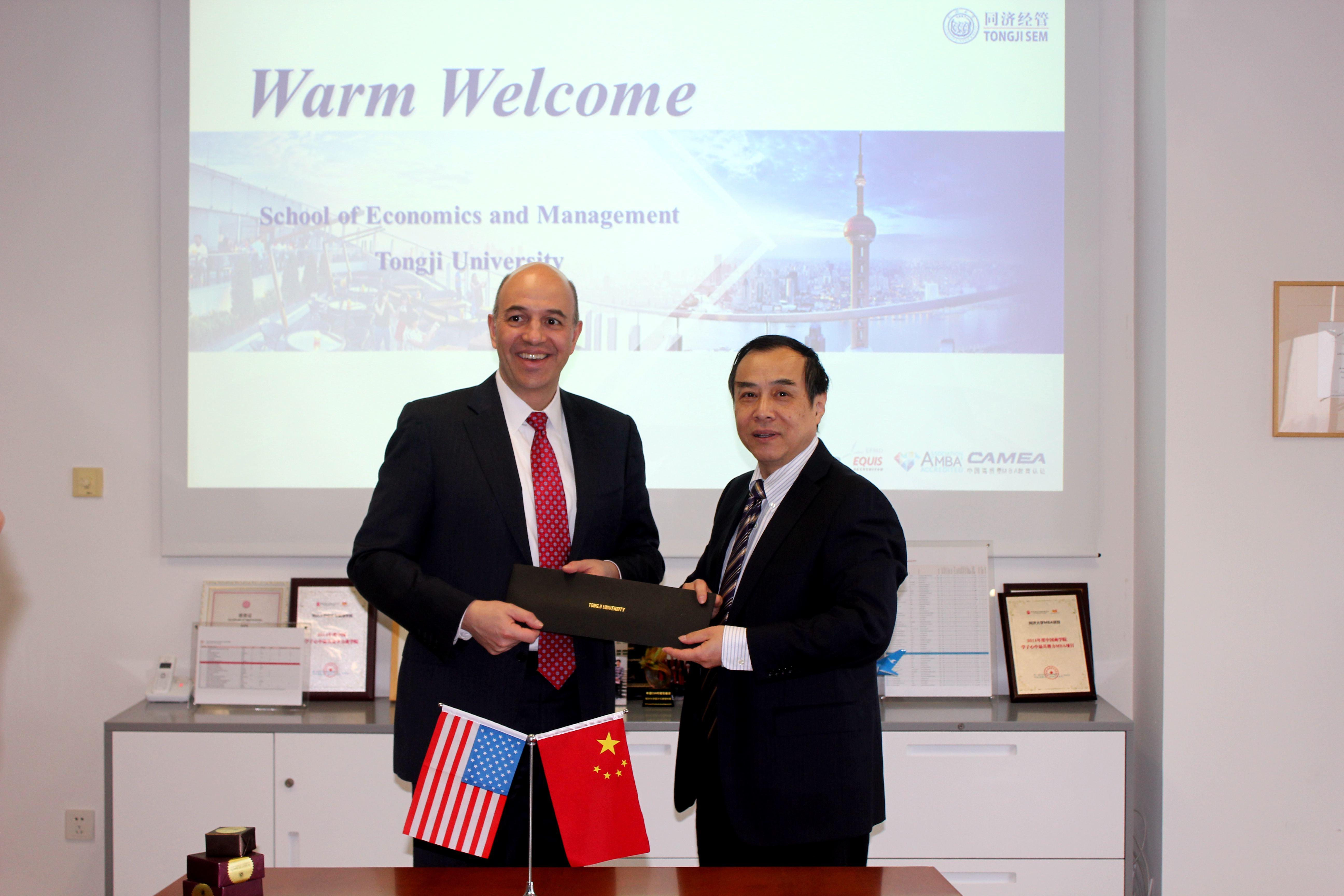 Dean of Robert H. Smith School of Business, University of Maryland Visits Tongji SEM