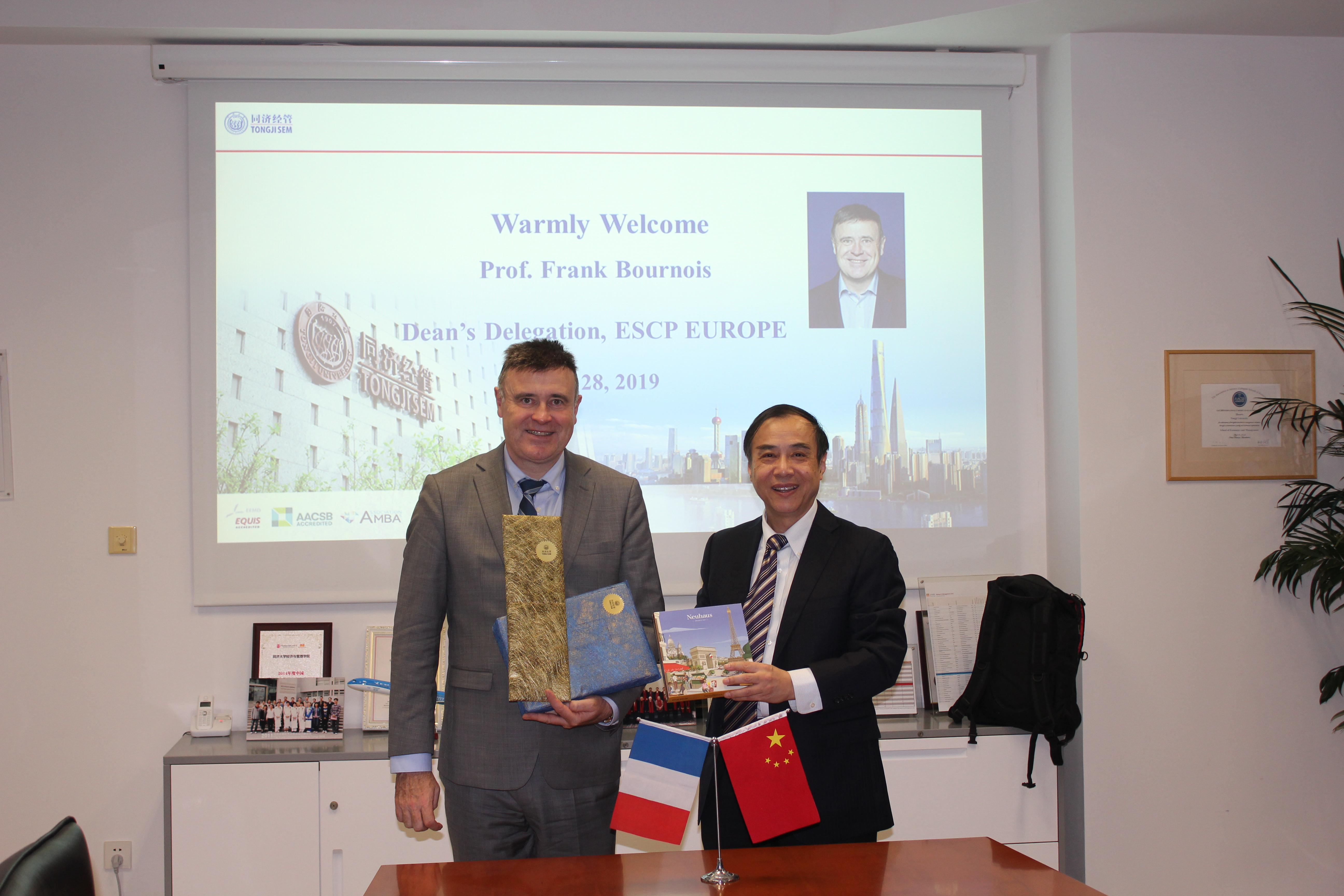 Dean's Delegation of ESCP Europe Visits SEM