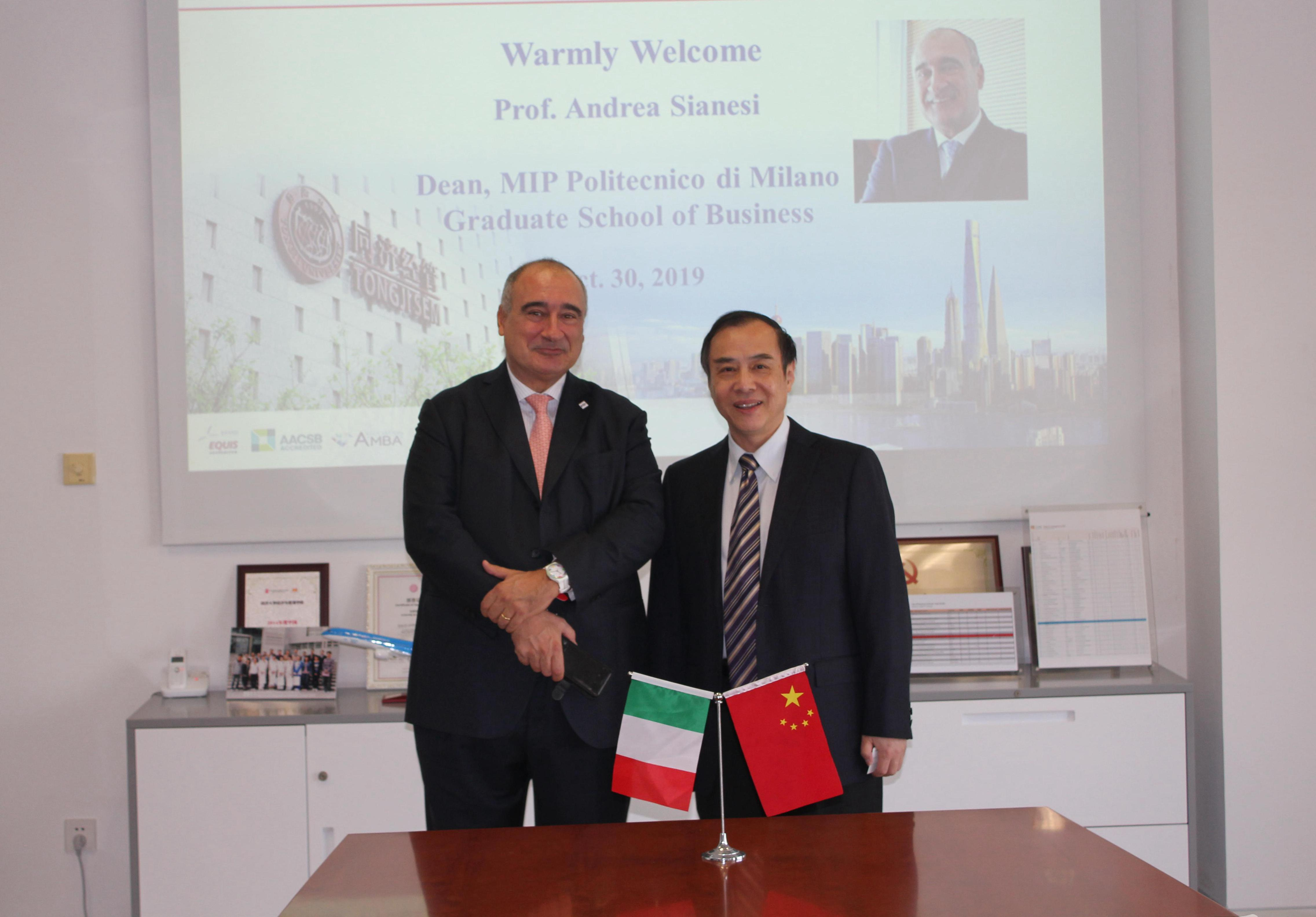 Dean of MIP Politecnico di Milano Graduate School of Business Visits SEM
