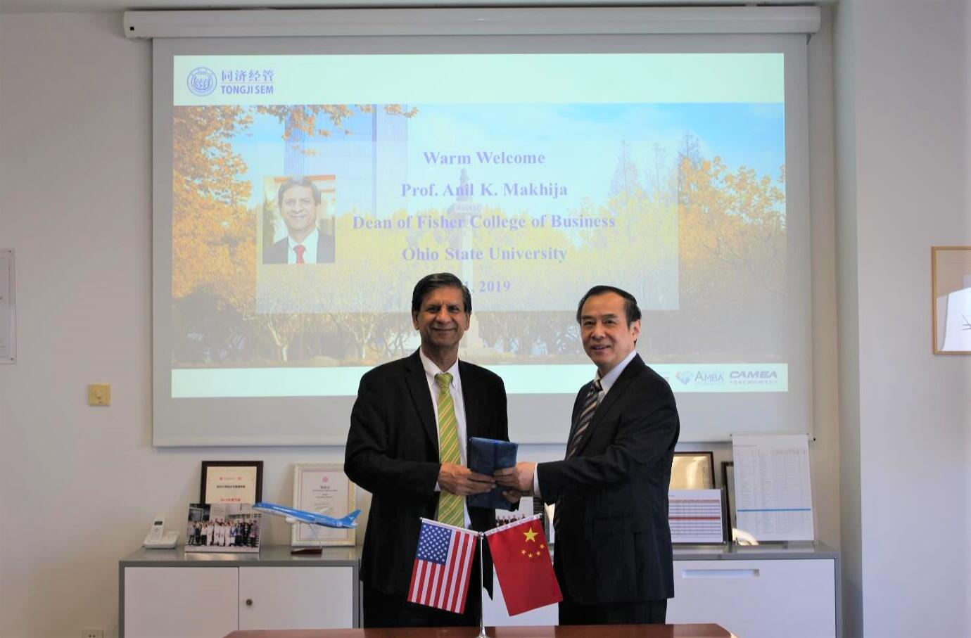 Dean of Fisher College of Business, Ohio State University, US, Visits Tongji SEM